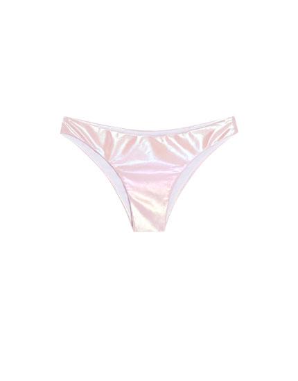 Shiny bikini bottoms