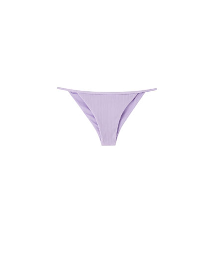 Lilac bikini bottoms with straps
