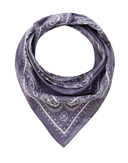 Classic faded-effect bandana