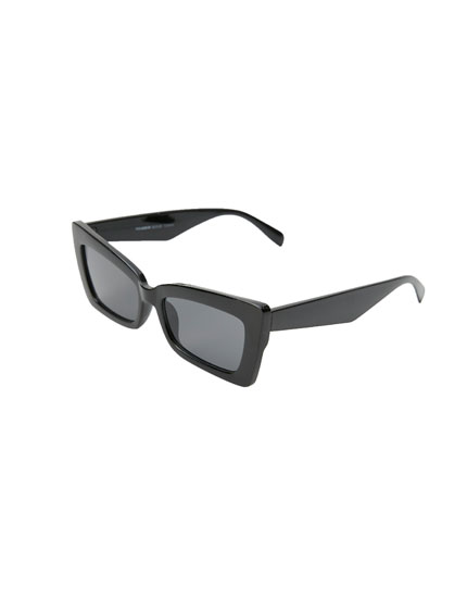 Lentes de sol cat eye rectangulares