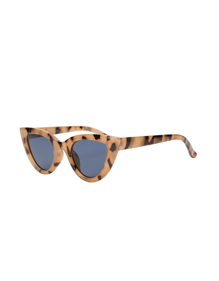 Gafas sol cat eye carey beis