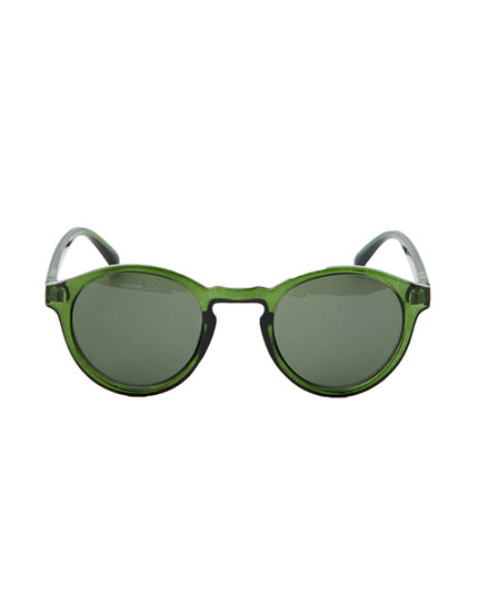 Round green sunglasses