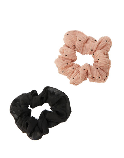 2-pack of plumetis scrunchies