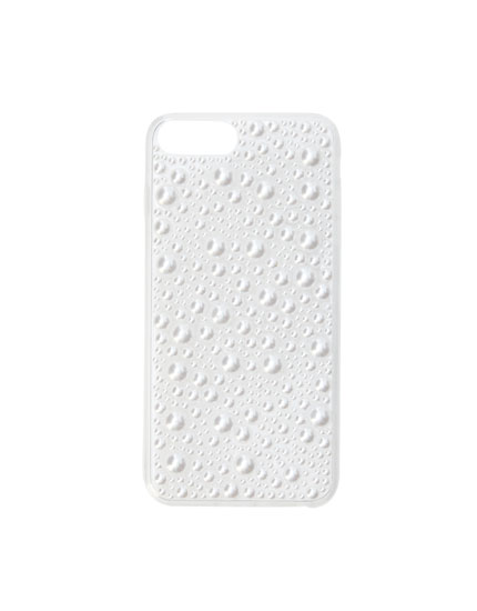 Smartphone case with faux pearl beads