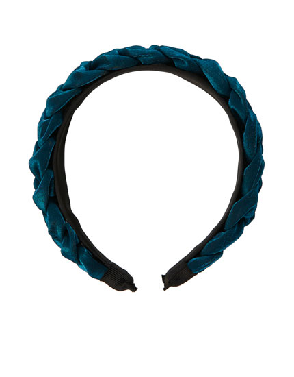 Blue plaited headband