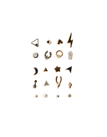 20-pack of charm earrings
