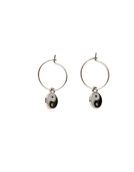 Yin Yang hoop earrings