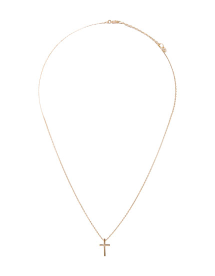 Gold necklace with a cross