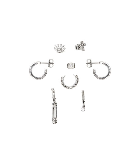 Pack 8 aretes brillo