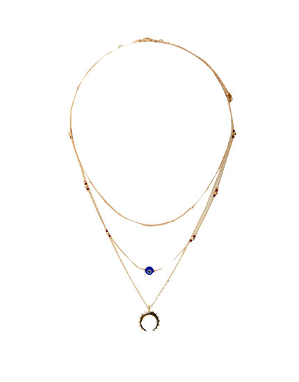 collier femme pull and bear