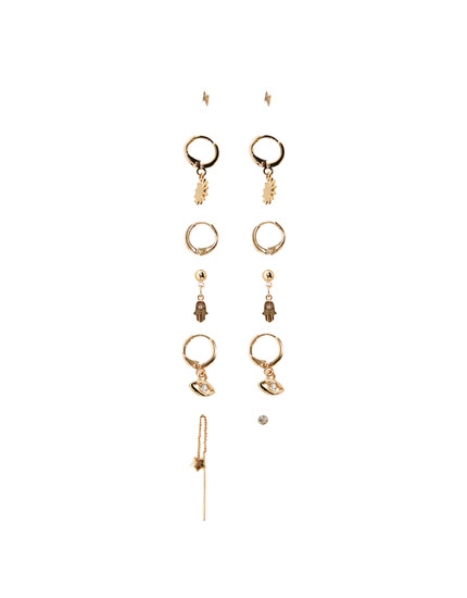6-pack of earrings in assorted shapes