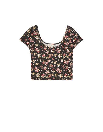 Crop top com estampado