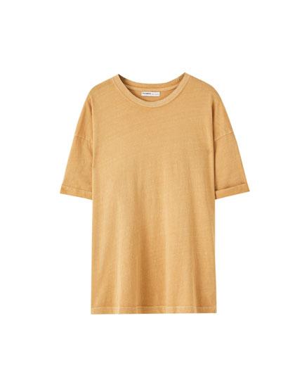 Coloured basic oversized T-shirt