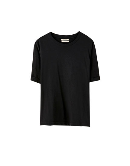 Camiseta básica oversize colores
