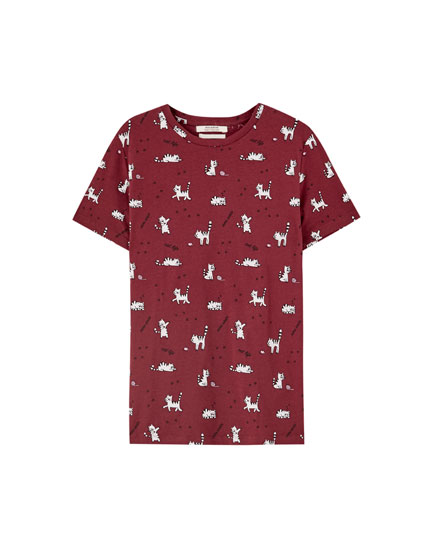 Shirt Kätzchen mit Wollknäuel