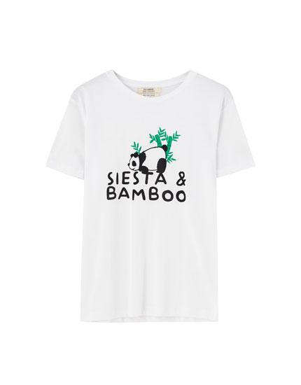 """Siesta & Bamboo"" panda T-shirt"