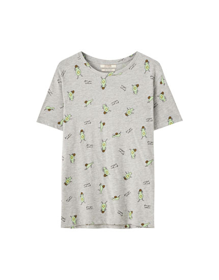 T-shirt with avocado print