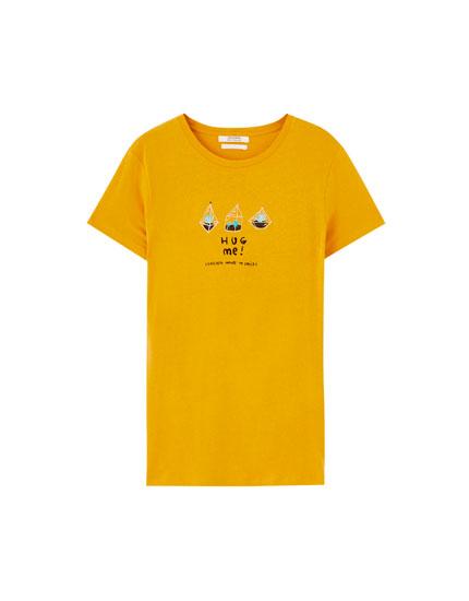 T-shirt illustration cactus inscription