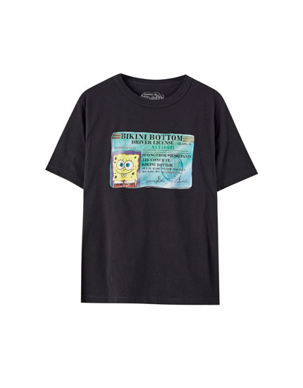 SpongeBob Squarepants T-shirt in grey