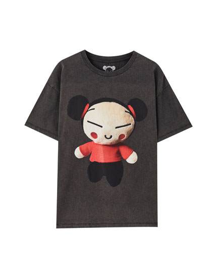 Faded black Pucca T-shirt