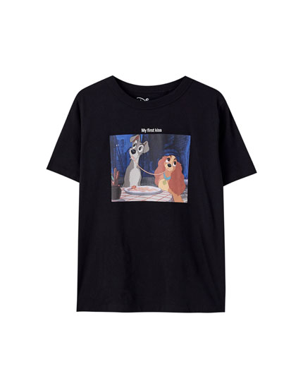 The Lady and the Tramp T-shirt in black