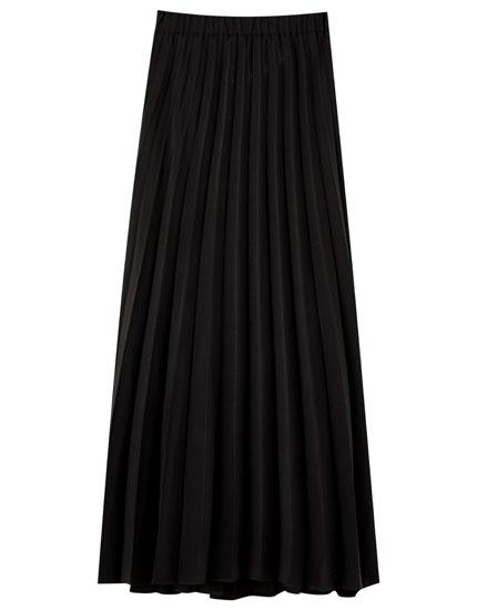 Μίντι φούστα basic πλισέ