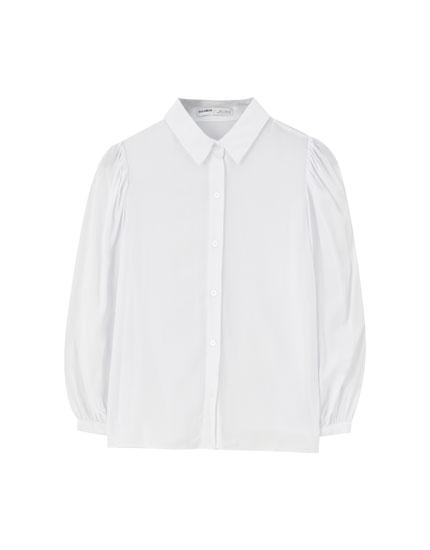 3/4 puff sleeve shirt