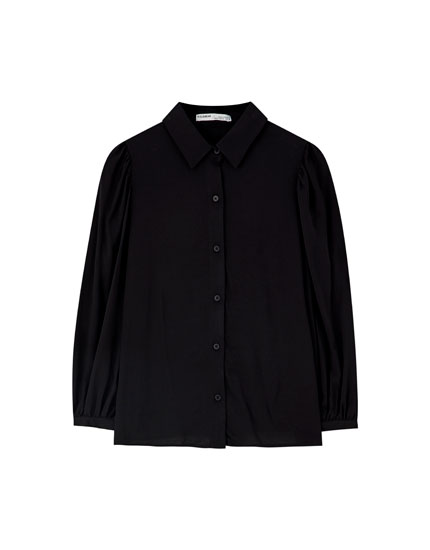 3/4 puff sleeve shirt