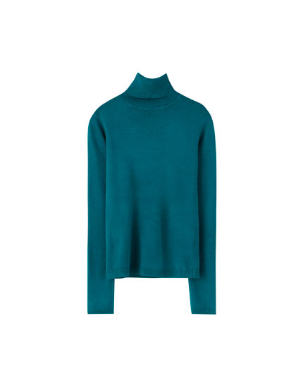 Basic coloured high neck sweater