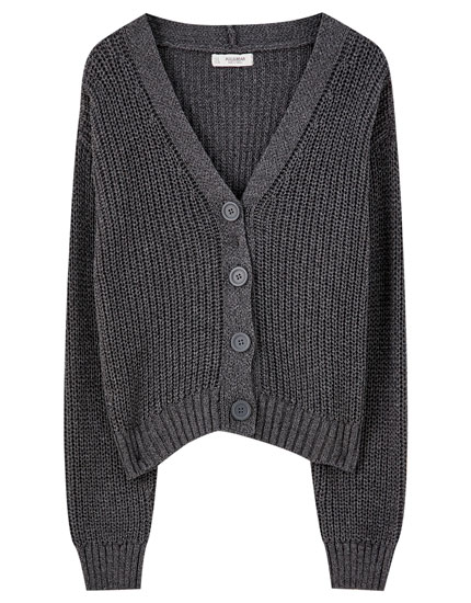 Basic knit cardigan