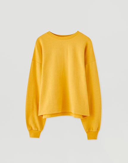 Basic coloured sweatshirt