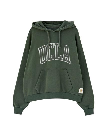 UCLA x Pull&Bear green hoodie