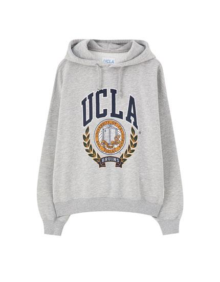 Γκρι φούτερ UCLA x Pull&Bear