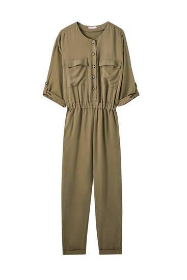 Jumpsuit with front pockets