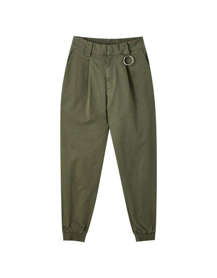 Pantalón cargo básico cadena