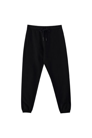 Sweatpants with elastic hems