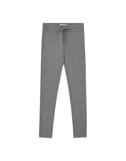 Cotton jogging-style leggings