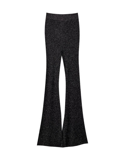 Flared shimmer trousers