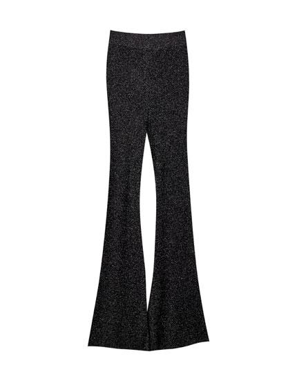 Pantalon flare scintillant