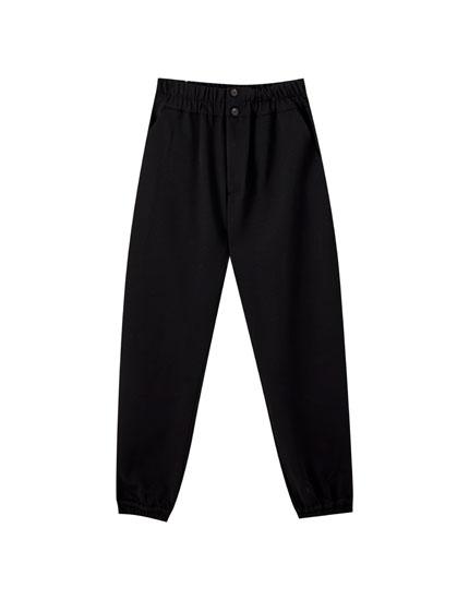 Pantalón jogger resorte ancho