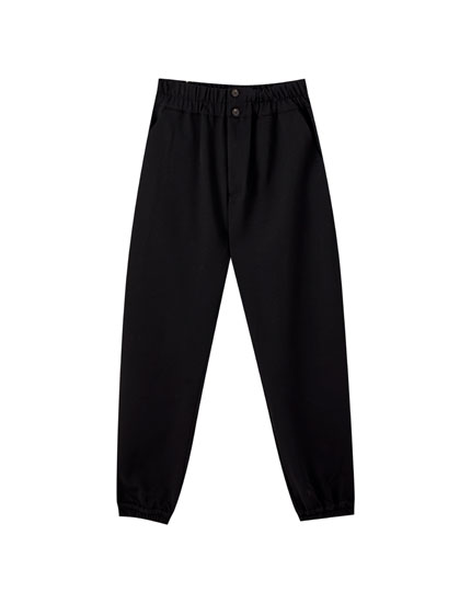 Jogger-Hose mit breitem Stretchbund