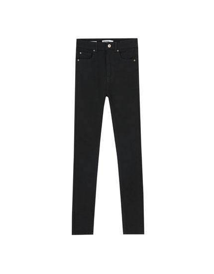 Jean skinny taille haute basique