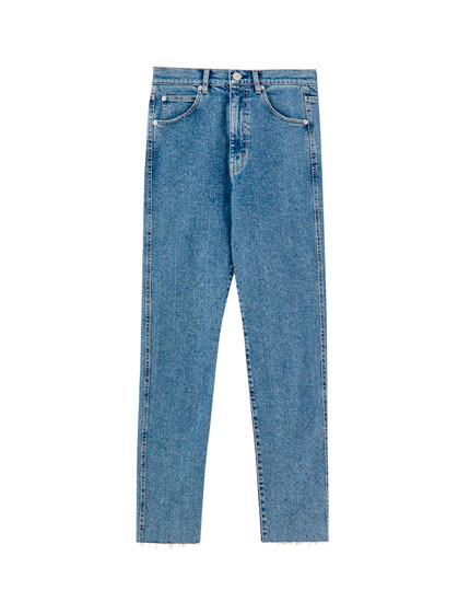 Gekleurde slim comfort fit mom jeans