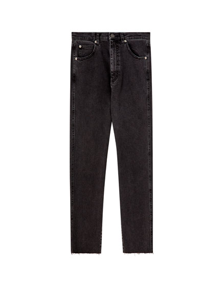 Coloured slim fit comfort mom jeans