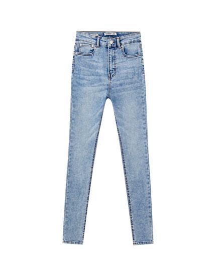 Τζιν παντελόνι ψηλόμεσο basic skinny fit