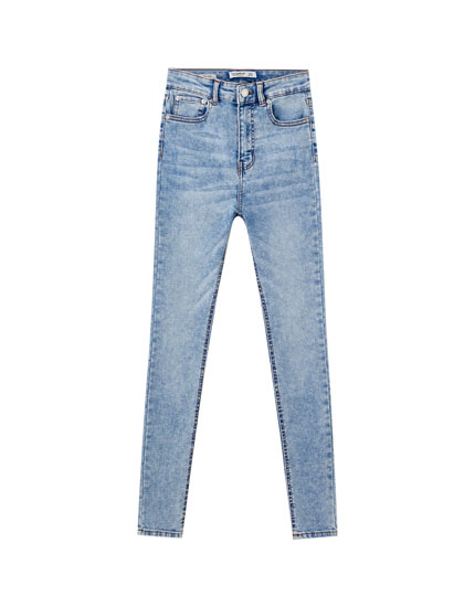 Basic high-waist skinny jeans