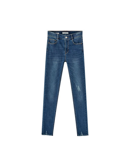 Mid-rise skinny fit jeans