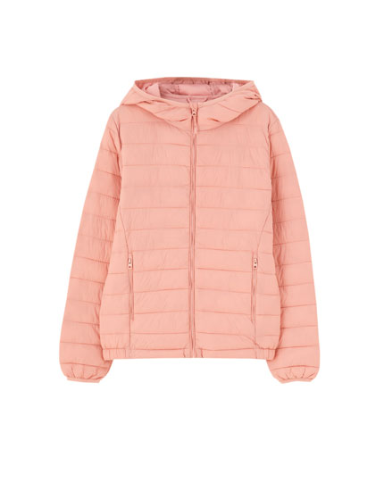 Basic nylon puffer jacket