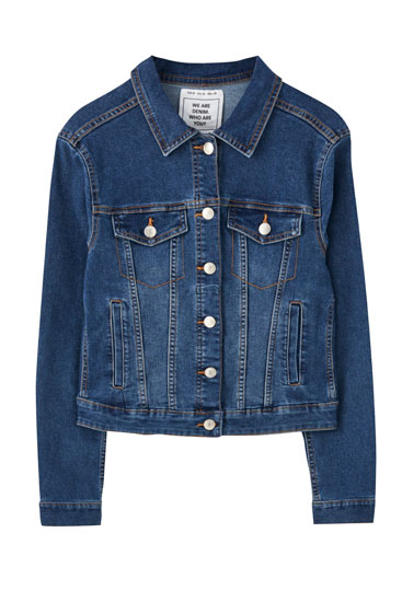 Fitted basic denim jacket