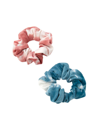 Pack of 2 tie-dye scrunchies
